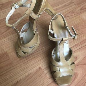 Michael Kors open toe high heels, size 7.5
